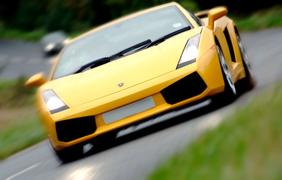 Commercial photography by Peter Ashby-Hayter: Lamborghini Gallardo in The Cotswolds